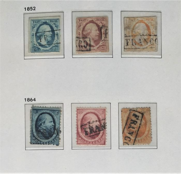 Netherlands 1852/1986 - Collection of stamps with face value in DAVO album