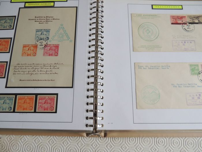 World war 2 - Pacific War collection - Commonwealth and Philippines in an Yvert binder.