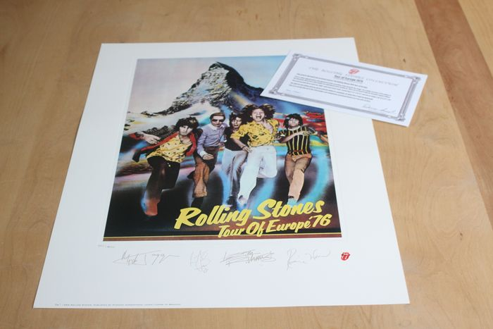 Rolling Stones - Limited Edition Lithograph - Europe 1976 - Originale Lithographie - 1994/1994