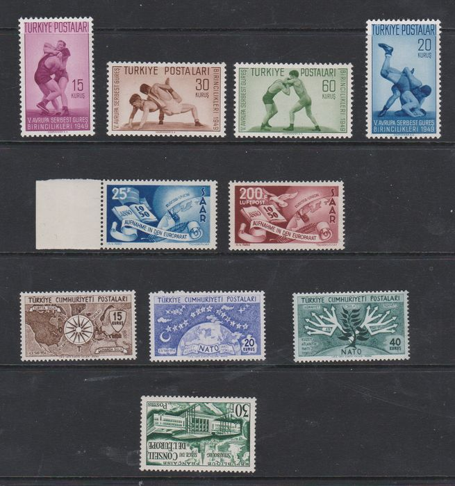 Europe Cept - Precursors, small collection with better series and more