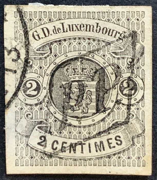 Luxembourg 1860 - National coat of arms 2 centimes - Michel 4