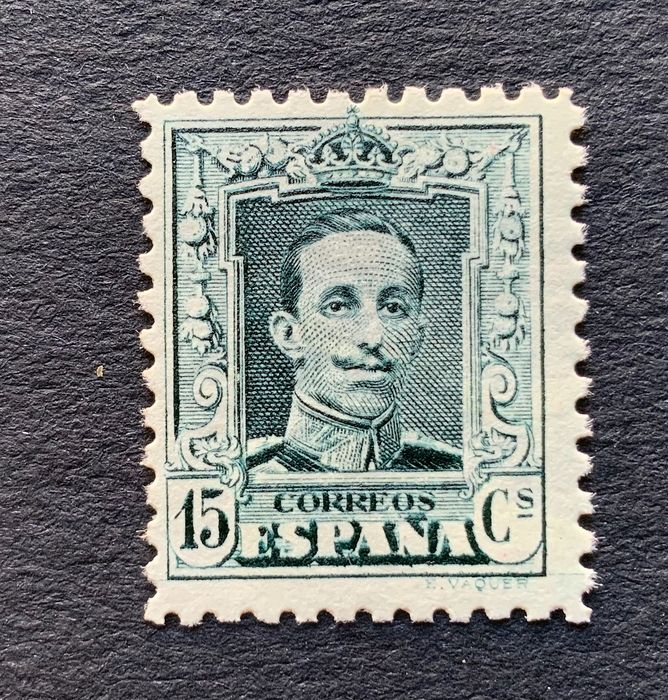 Spain 1922/1930 - Alfonso XIII, 'Vaquer'. Well centred. - Edifil 315 B