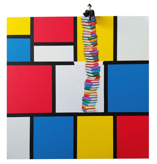 Dario Assisi - Magritte in the Mondrian world - Feed your mind