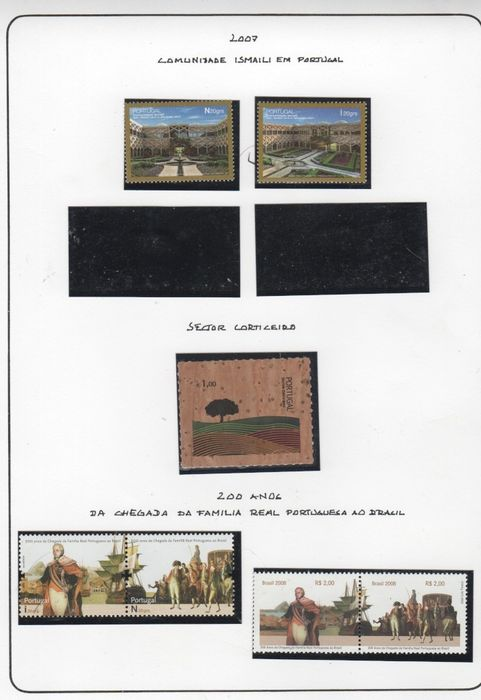 Portugal 2005/2007 - Collection in Album Sheets