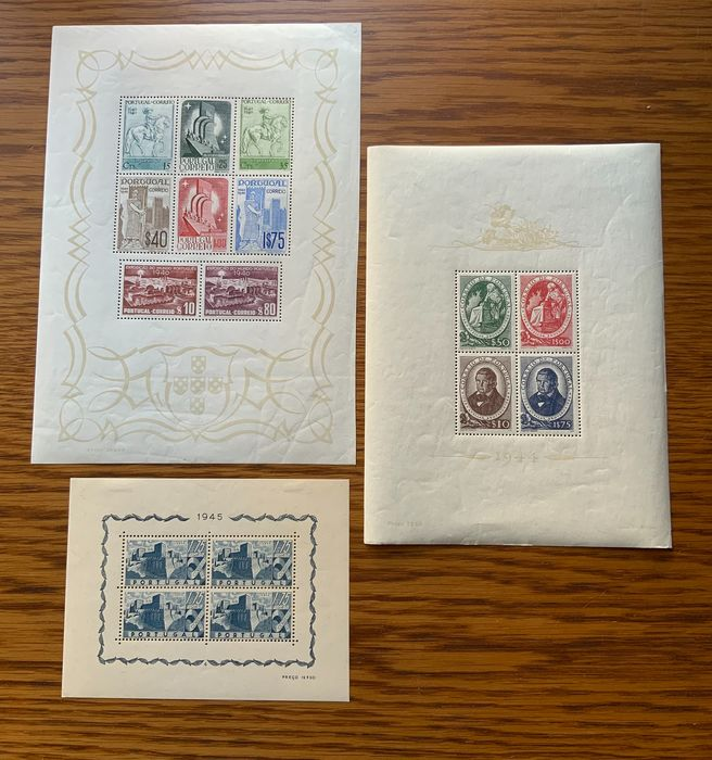 Portugal 1940/1947 - Miniature sheets - Mundifil Bloque 2-6-10