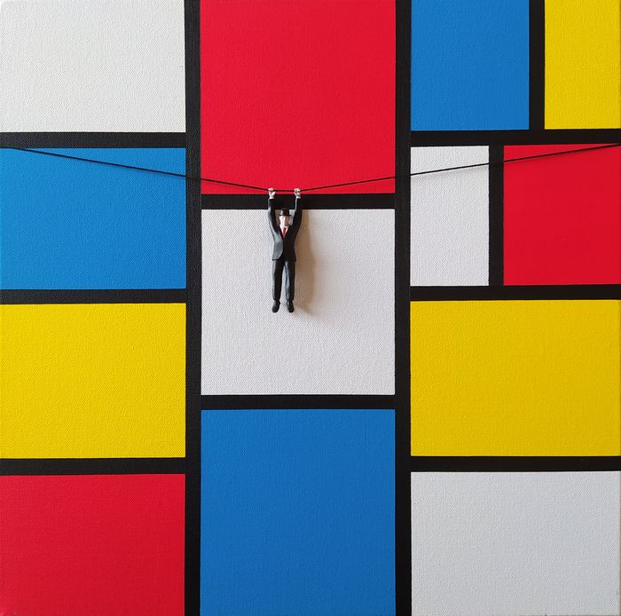 Dario Assisi - Magritte in the Mondrian world- Escape 3