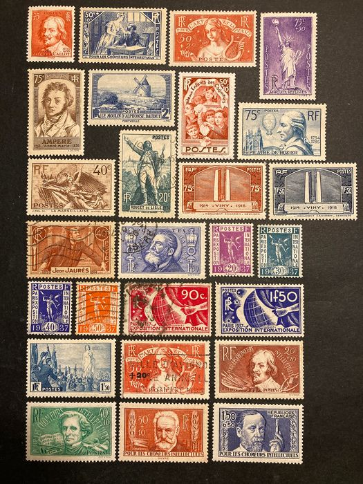 France - 1936-1937, including between 306 and 371. - Yvert