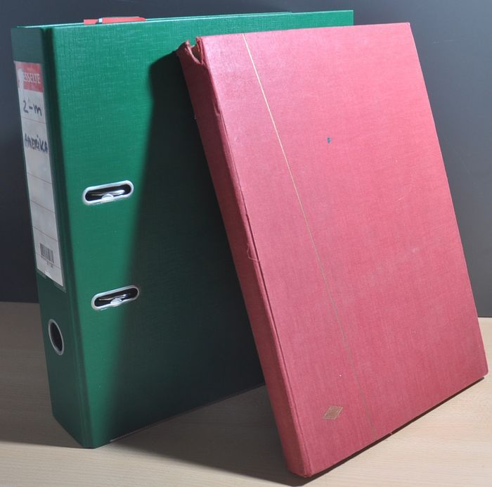 Central and South America - Collection starting with classics in a thick ring binder and stock book