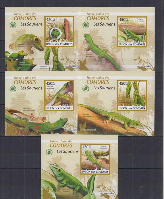 Comoros 2009/2011 - collection of 386 different de Luxe sheets