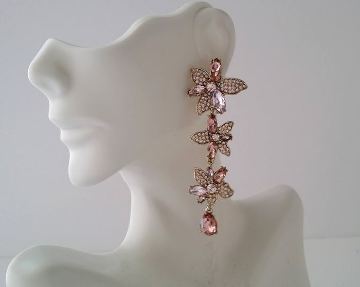 Givenchy - Crystal Floral Post Earrings