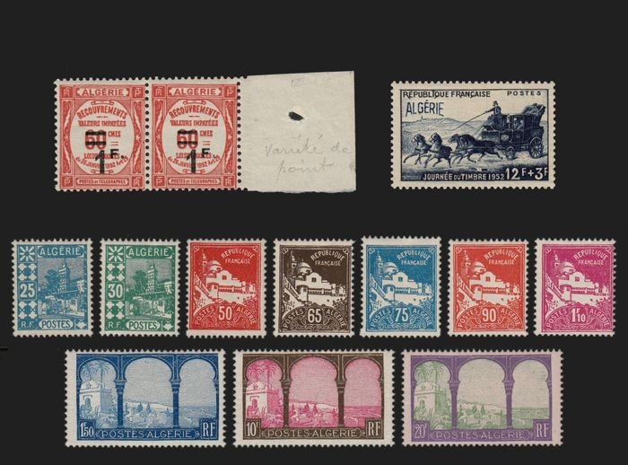 Algeria 1926/1952 - Lot of 2 mint** varieties + full series No. 78-85 *