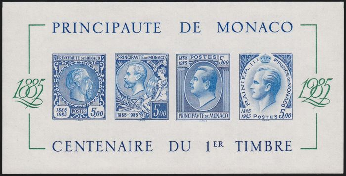 Monaco 1985 - Souvenir sheet, imperforate, mint** without hinges. - Yvert n° 33a
