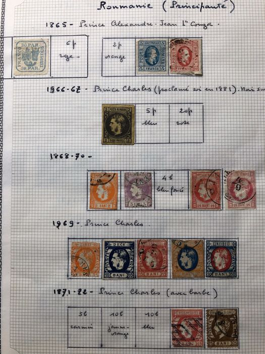 Romania 1862/1967 - On loose pages