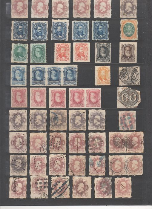 Brazil 1860/1940 - Lot of old Brazilian stamps