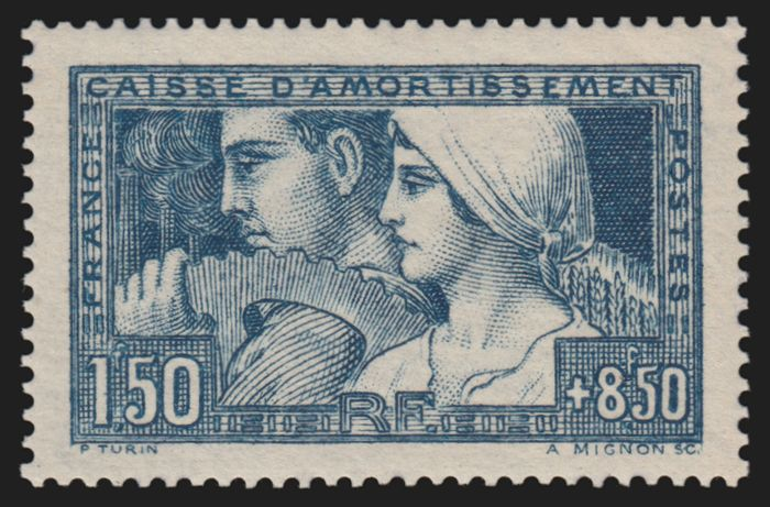 France 1928 - 'Le Travail' mint*** no hinges, very good centring - Yvert n° 252