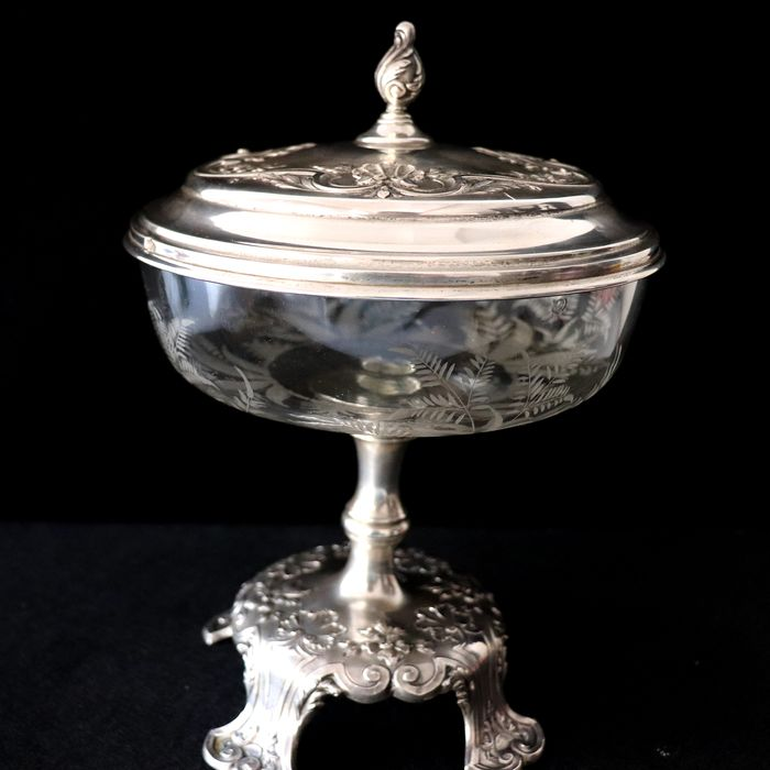 Bomboniere - Silver, Glass - Portugal - Late 19th century