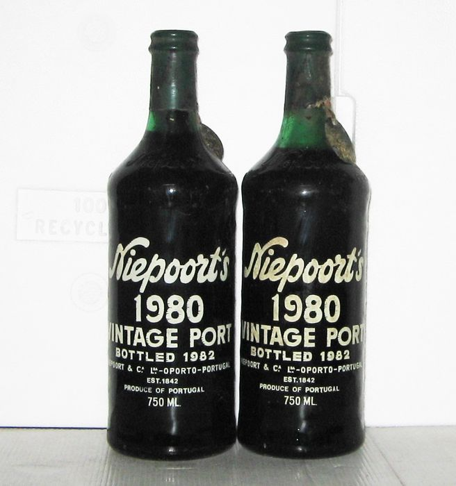 1980 Niepoort's Vintage Port - 2 Botellas (0,75 L)