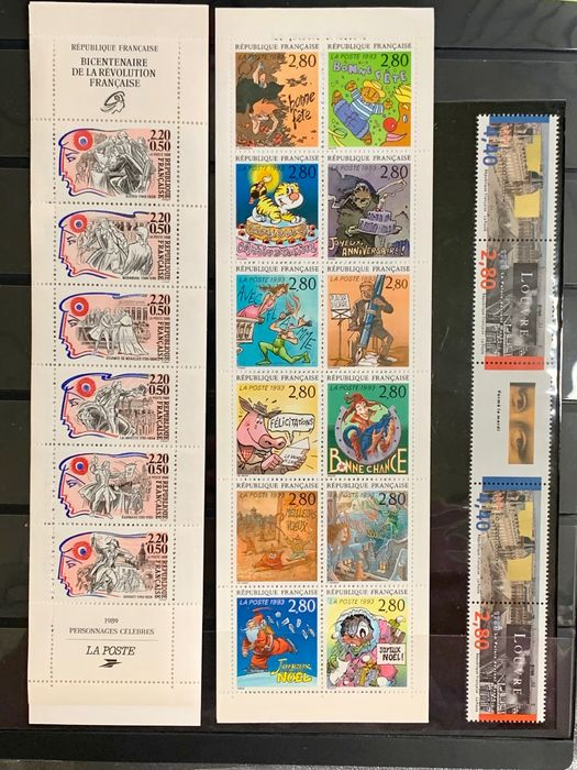 France, Norge, Sverige,Russia,Poland etc 1955/1996 - Extensive modern collection of stamps, booklets and FDC