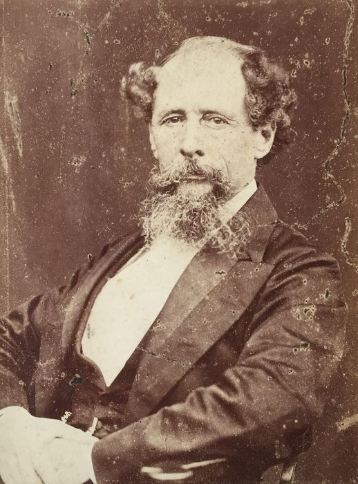 Mason &Co - Charles Dickens, Original cabinet photo,   1860s