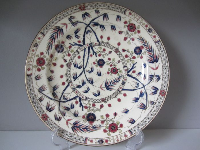 Zsolnay Pecs - Large Ornamental Plate Japonism (1)