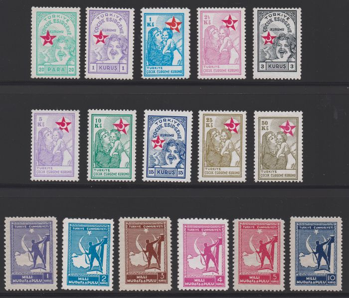 Turkey 1940/1958 - Flawless collection of compulsory surcharge stamps