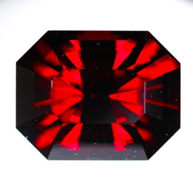 1 pcs Rojo Granate - 12.16 ct