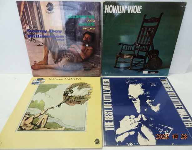 Various Artists/Bands in Blues, Howlin' Wolf, Sonny Boy Williamson, Little Walter, Muddy Waters. - Diverse Künstler - 4 Albums (5LP's) The best of Chicago Blues. - Diverse Titel - LP's - 1964/1972