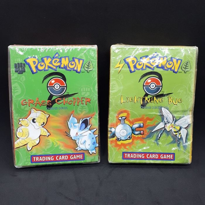 Nintendo - Pokémon - Sammelkarte Base set 2 theme deck - Grass Chopper & Lightning Bug- Factory sealed - NO RESERVE - 1999