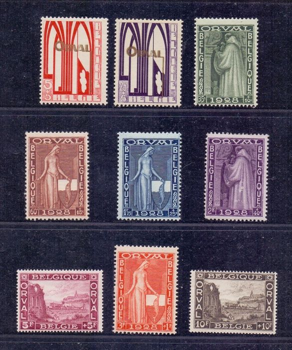 Belgium 1928 - Complete series of the First Orval - OBP / COB 258/66