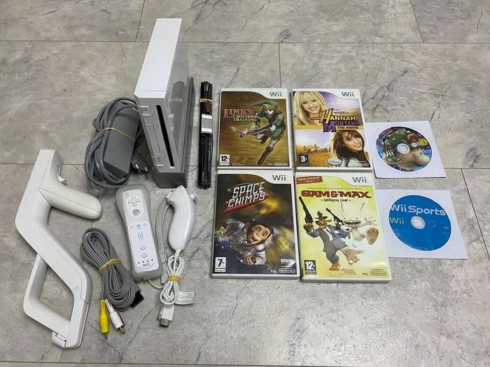 Nintendo Wii compleet with 6 games Mario and more - Console