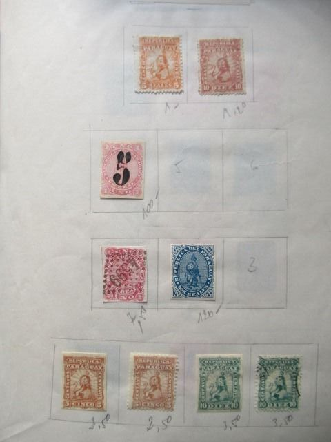 Paraguay - Very advanced collection of stamps.