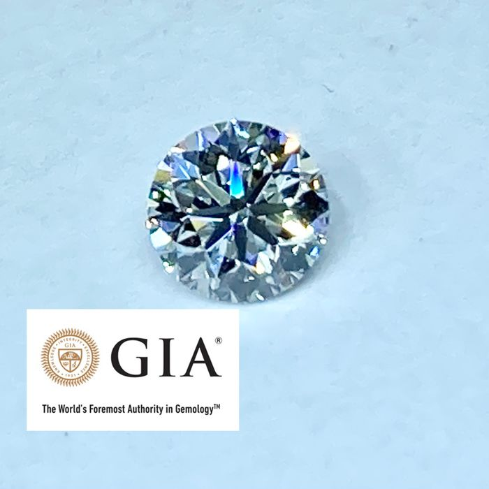 1 pcs Diamante - 0.50 ct - Brillante, Redondo - F - IF (Inmaculado), LC (Puro a la lupa)