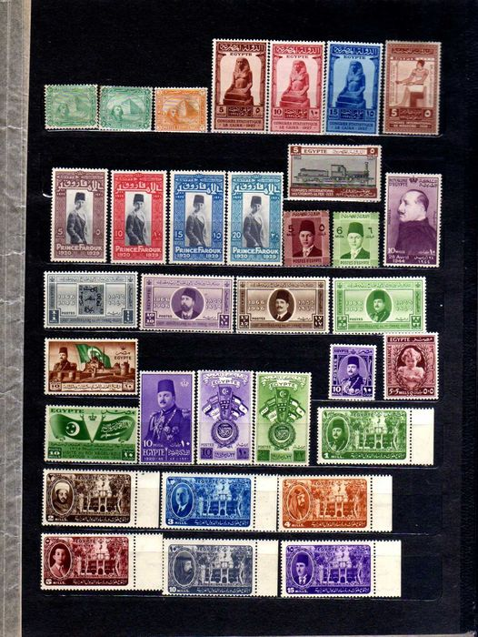 Egypt (U.A.R.) - Egypt 1884-1970's 3 nice valuable collections
