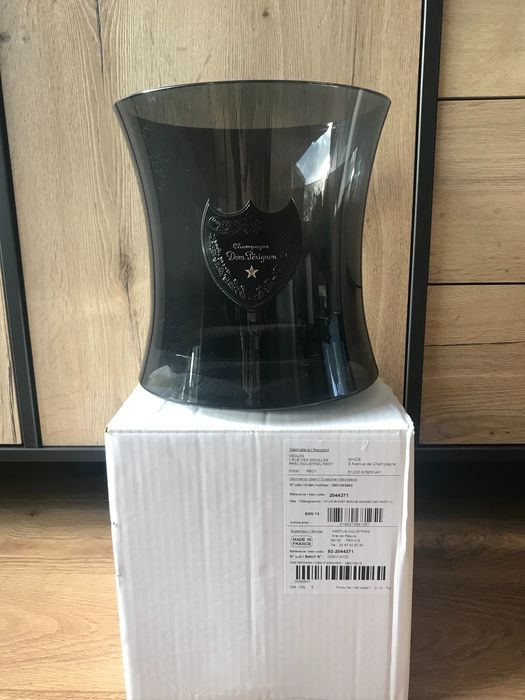 Dom Perignon ice bucket cooler black smoked Szekely for 1 magnum - Champán