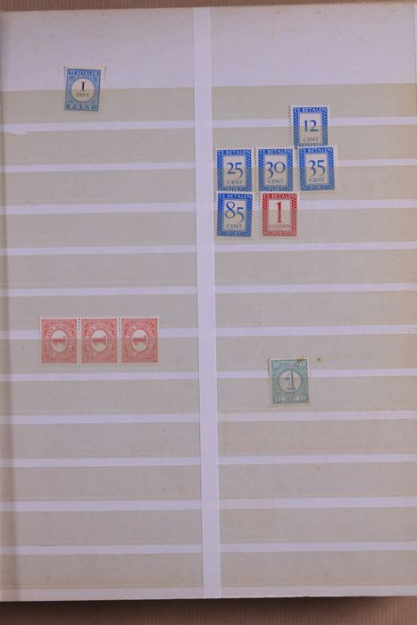 Netherlands 1876/2001 - Batch of stamps and a collection of stamp folders in three DAVO albums and an old stock book