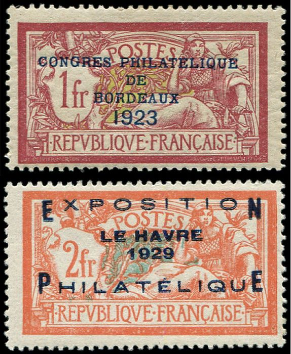 France - and 257A. Congress of Bordeaux and Le Havre VF - Yvert 182