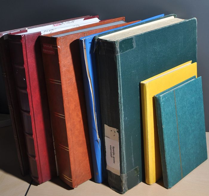 Spain - Batch to sort out starting with classics in various stock books