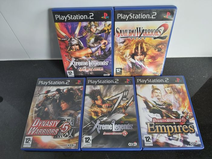 Sony PS2 - Lot with 5 Samurai/Dynasty Warriors games - Video games
