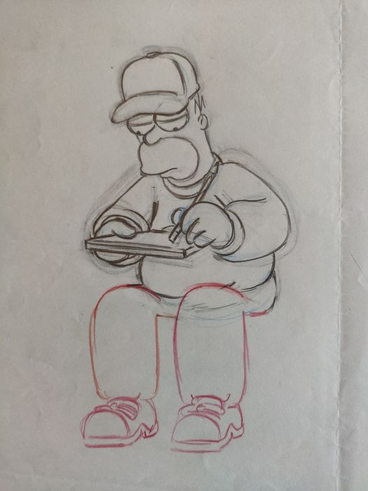 The Simpsons - Original Animation Art drawing - Homer - First edition (2005)