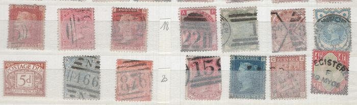 Great Britain 1841/2006 - England collection on pages - Lots of modern, amongst others, gutter-pairs with Traffic Lights