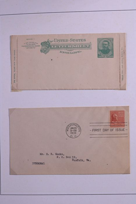 World 1939/1999 - Collection of FDCs and postal items in 3 albums and binder