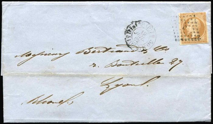 France - PERNAMBUCO BRESIL circular from 30/5/62. posted in Paris date stamped 1er Diston (D) 19/7 for Lyons - Yvert 13B