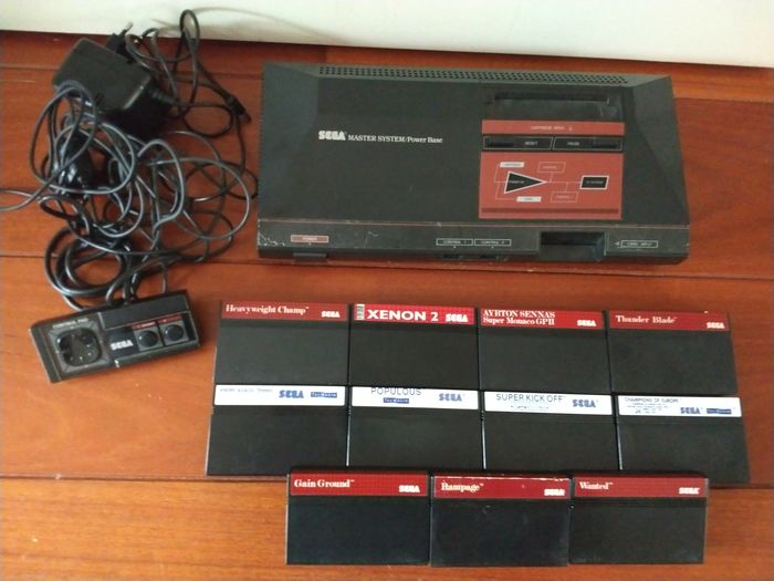 1 Sega - master system power base with 11 games (11)