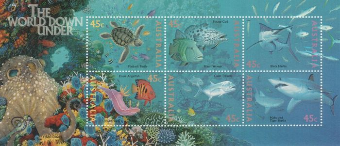 World 1959/1990 - Topical stamps animals - On pages