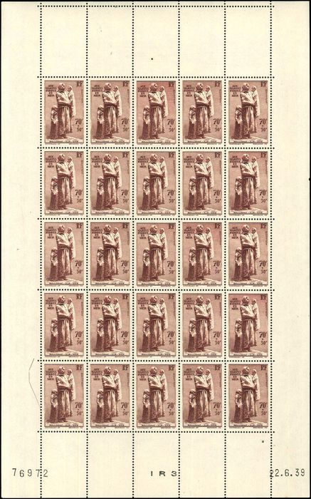 France - Marins Perdus. Sheet of 25 VF - Yvert 447