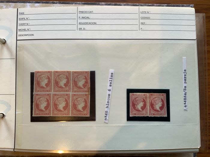 Spain 1855/1949 - Great collection of 1st Centennial of Spain varieties