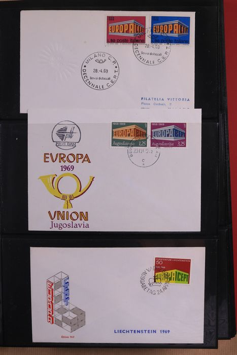 United Europe / CEPT 1969/1978 - Collection of FDCs in three albums
