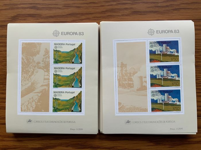 Portugal and Colonies 1983 - Accumulation of miniature sheets - Mundifil bloque 56, bloque 57