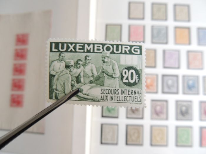 Luxembourg 1882/1960 - Advanced collection in one Lindner binder