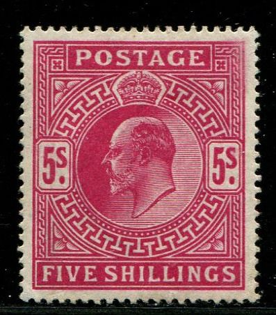 Great Britain 1902 - 5 shilling bright carmine - Stanley Gibbons 263